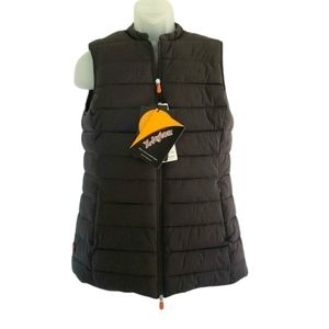 SAVE THE DUCK Faux-Fur Lined Angy Vest XL NEW $228